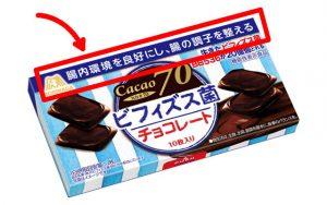 ビフィズス菌チョコレートのパッケージ